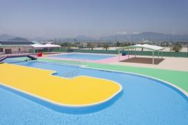 ソルトアリーナ内、市民プールの写真です。